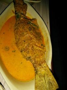 Bhetki fish curry