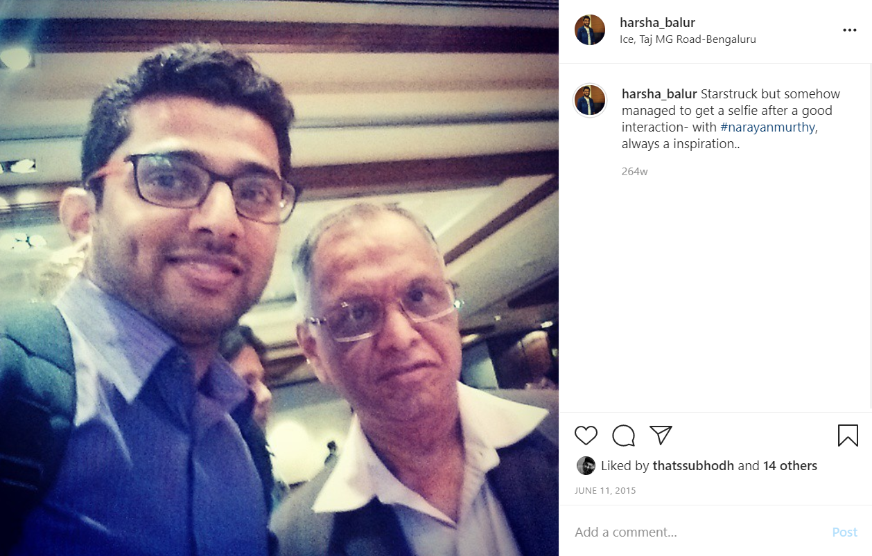 With the man himself, Mr. Narayan Murthy.