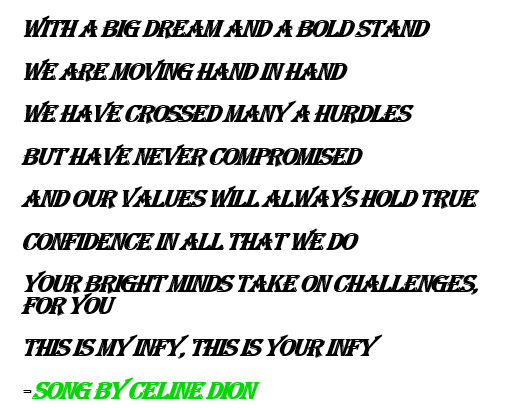 This is my Infy- song by Celine Dion